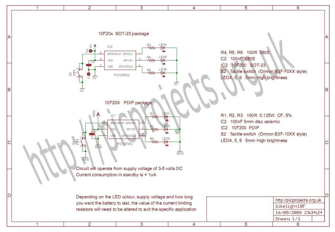 Led Bike Light Circuit And Projects Download Schematic In Pdf
