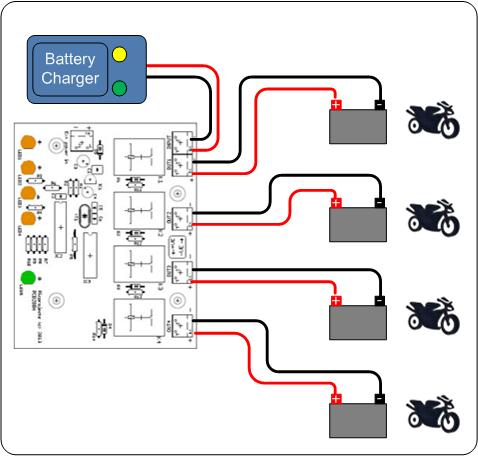 battery charger sharing controller rh picprojects org uk Battery Symbol Battery Schematic Diagram