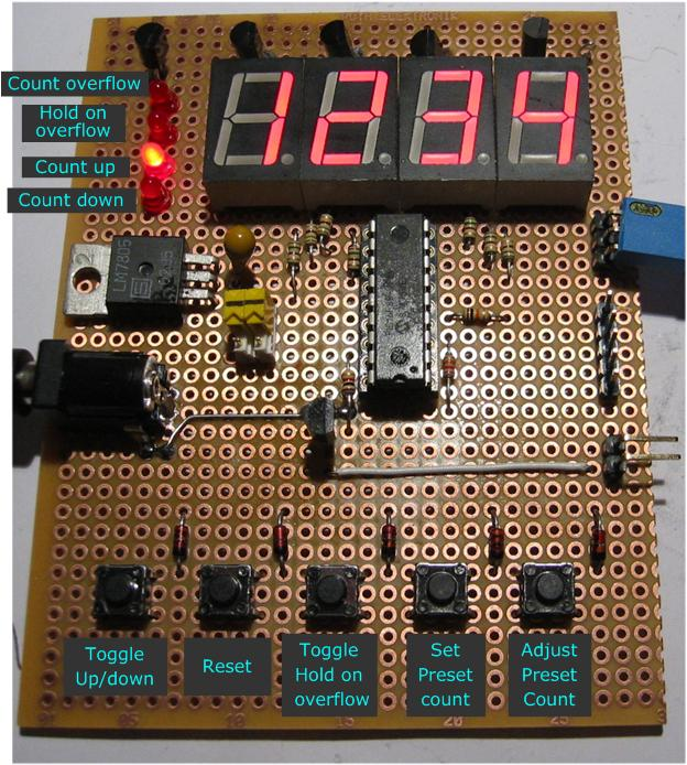 4 digit up down counter with preset reset hold and overflow out rh picprojects org uk