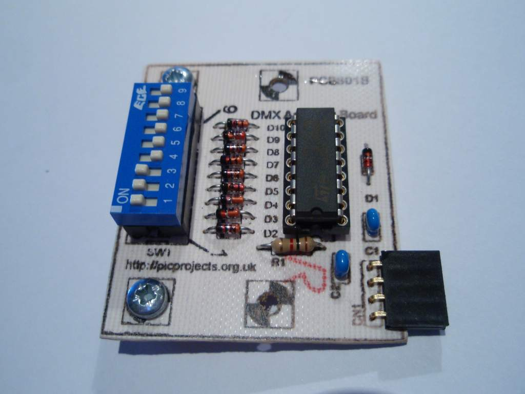 Dmx512 4 Channel Driver Board Dmx Control Wiring Diagram Free Download Schematic If The Address Is Present It Will Always Take Precedence Over Held In Eeprom Or Sent Any Band Configuration