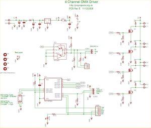 dmx control wiring diagram schematic dmx dmx512 4 channel driver board source · computer circuit schematics wiring diagram circuits schema on dmx control wiring diagram