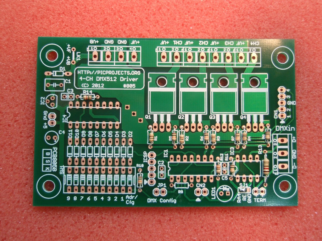 Dmx512 4 Channel Driver Board Constant Current Led Circuit Electronic Projects