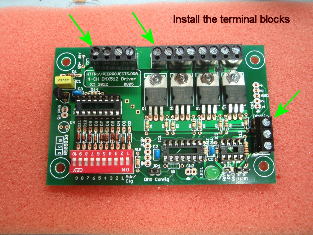 Dmx512 4 Channel Driver Board Fig Rear Terminals Of A Midrange Controller Fig16