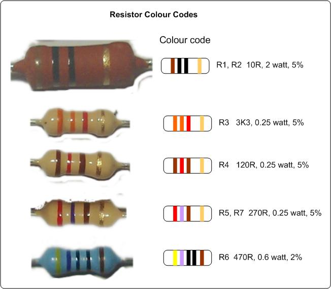 Band Resistor Color Code Practice Sheets  Free Image About