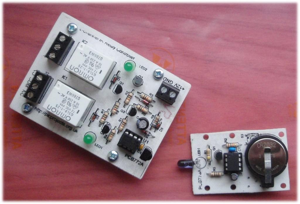 3-Switch Mini IR Remote Control