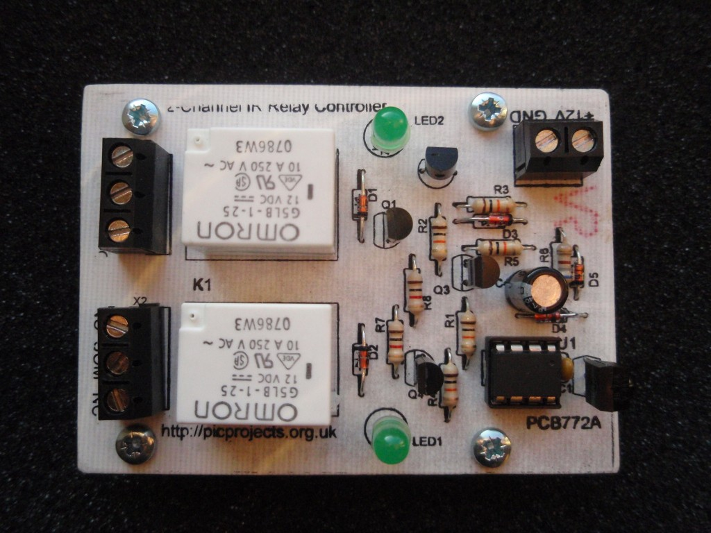 2 Channel Ir Relay Controller How To Build Single Transistor Toggle Circuit Fig7