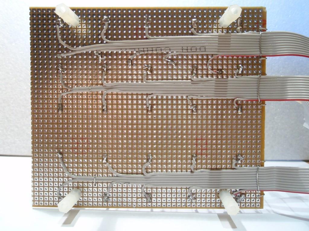 схема led куба 16f876