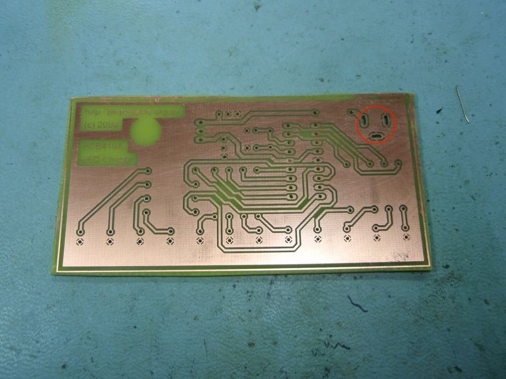 Led Chaser Circuit Diagram Pcb Copper Side