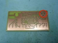 LED Chaser PCB copper side