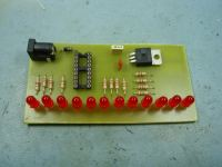 LED Chaser PCB without crystal or load capcitors fitted