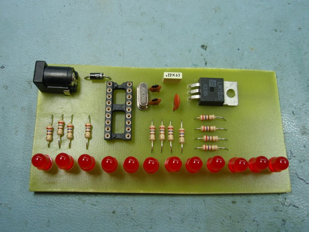Led Chaser Image Pcb Circuit Board Download Assembled