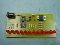 LED Chaser PCB assembled