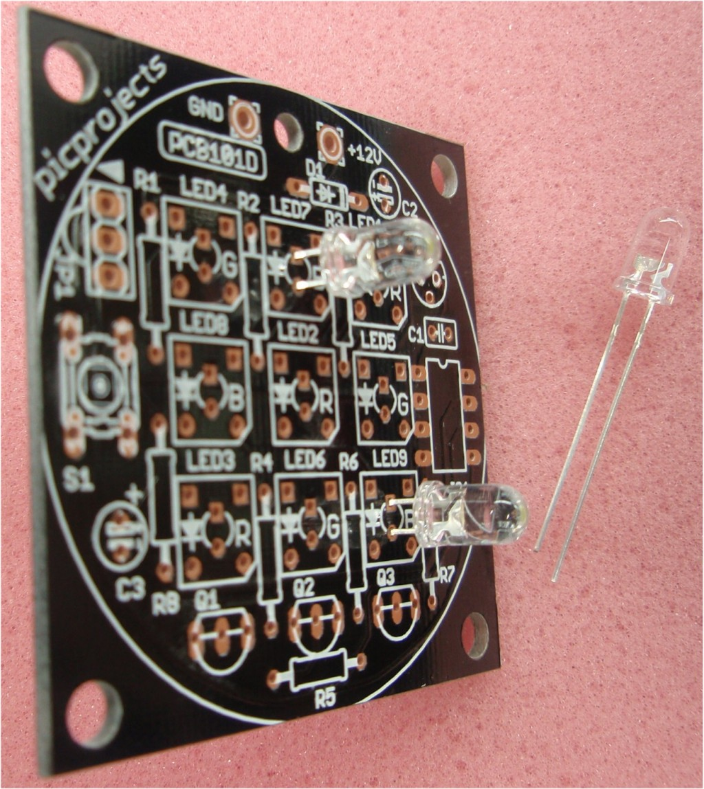 Rgb Led Mood Light Driver Circuit Additionally Diagram On Fade The Kit Is Supplied With Superflux Leds But If Youre Building Your Own Version You Have Choice Of Type To Use