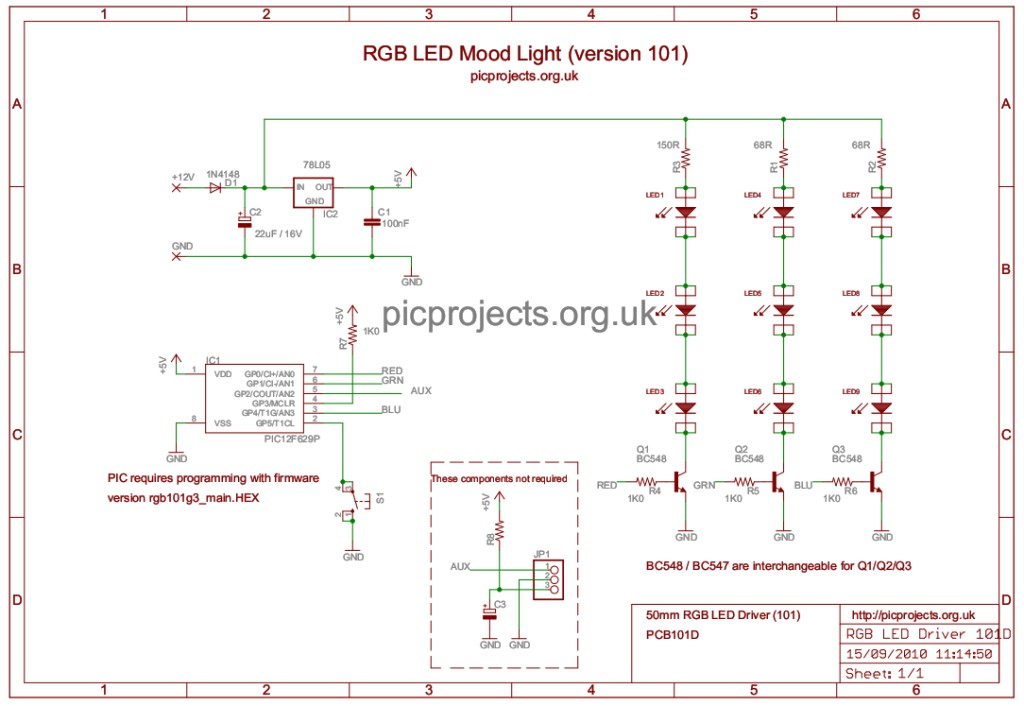 schematic RGB101D rgb led mood light driver RGB LED Chip Wiring-Diagram at readyjetset.co