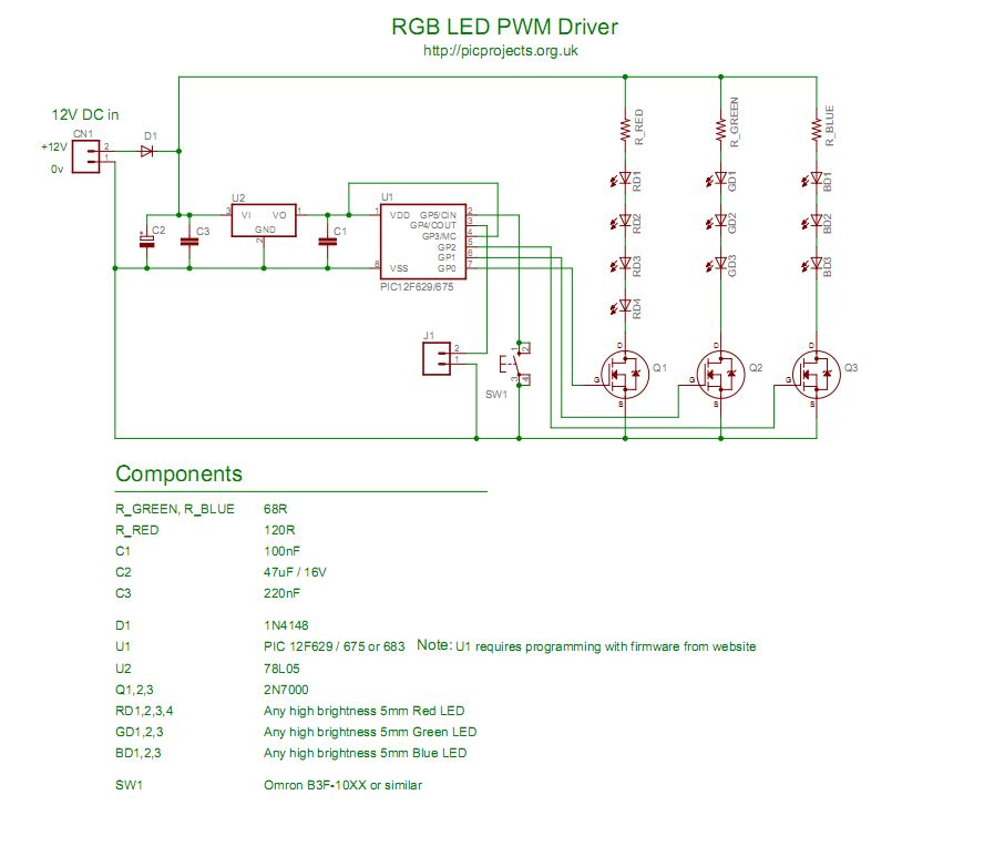 rgb led controller schematic as pdf