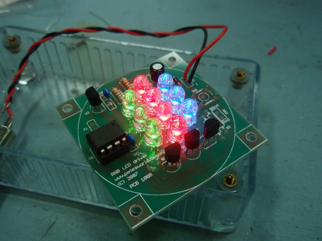 Rgb Led Controller Pwm With 555 Timer Chip Photo